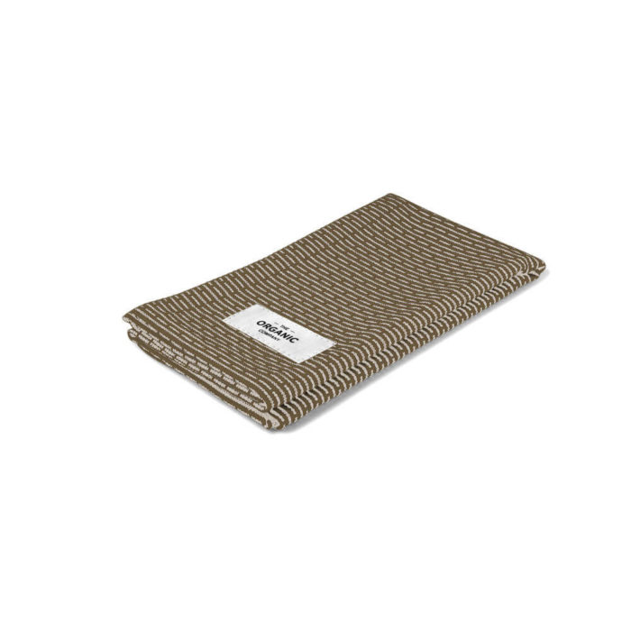 Kitchen cloth in 100% organic cotton. The entire product is plastic free, including the thread and the label. Can be used as a kitchen cloth, a small guest towel or wash cloth for face and hands. Choose from many two tone woven colours, including dark grey, light grey, stone, blue grey, dark blue and stone rose. Seen here in khaki stone. 35 x 30cm