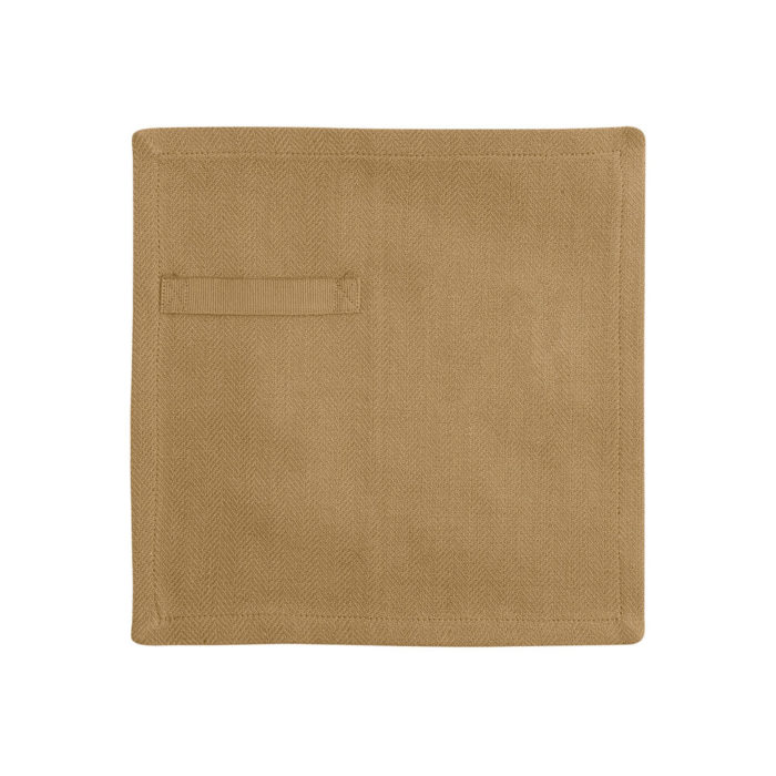 "Cloth napkins, the ""Everyday Napkin"" in organic cotton, 20x20cm. This reusable cloth napkin comes in a set of 4, either single colours, or mixed pack. The cardboard boxed napkins make a lovely gift. Designed by The Organic Company. Seen here in khaki."