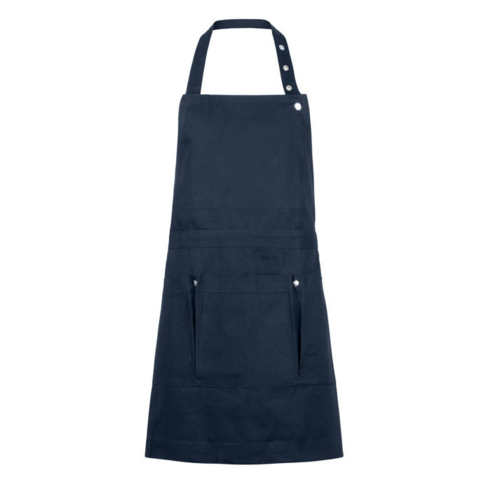 This is a craft and gardening apron perfect for getting your hands dirty. This sturdy craft and gardening apron with 5 pockets might be for you! Organic cotton canvas, 100x74cm, available in dark grey, black, dark blue and dark green.
