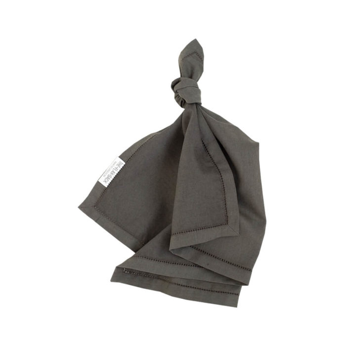 Organic linen napkins These quality flax linen napkins are made from an organic mix of linen and bamboo fibres. Perfect not only for table decoration, but also for zero-waste shopping. Seen here in olive grey/green, they're also available in champagne pink and raw beige. Use them to wrap your groceries, leftovers and packed lunch, or to set-up your elegant dining table. The unique fabric blend helps these sustainable napkins to handle the pressures of life! Beautifully soft and natural, Flax Sack organic table linens are twice as durable as cotton and can last for many years, passing through down generations. Bamboo ensures that the linen doesn't crease excessively and makes the table napkins easy to look after. The Flax Sack's table linen is a sustainable, as it improves with age and becomes softer with each wash. So you won't need to replace your table linen as often. The texture and colour also don't show up stains as easily, so your laundry will reduce, thus reducing your water and energy use. Choose from Champagne Pink, Raw Beige and Olive Grey (which is somewhere between a grey and dark green). These linen napkins are: Soft Crease resistant Twice as durable as cotton Sustainable Hypoallergenic Antibacterial Moisture absorbent Softer with each wash Material: 85% Linen / 15% Bamboo Dimensions: 55cm x 55cm Flax Sack home linen is available in a range of table linen and bed linen in this colour range