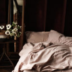 CHAMPAGNE PINK organic flax linen & bamboo duvet cover or bedding set The combination of organic linen and bamboo in this champagne pink linen duvet cover or full bedding set makes Flax Sack bedding soft and easy to handle, with all the great usual linen qualities. Wonderfully soft and natural, these organic linen duvet covers are twice as durable as cotton and can last for decades. The material doesn't crease easily, thanks to the bamboo, making this a great choice for busy lives. The Flax Sack's linen bedding helps us reduce, reuse and recycle, as it improves with age, becoming softer with each wash and can be passed down the generations. Naturally antibacterial, hypoallergenic and moisture absorbent, Flax Sack's sustainable bed linens cares for your skin, thanks to to the fabric's neutral pH level and its ability to help regulate body temperature. Linen and bamboo nurture sensitive and eczema prone skin, leaving you to have a restful night's sleep. Choose from a double or king size duvet cover in your favourite colour, to match your natural interior style. This linen bedding or set is also available in Oyster White and Olive Grey. Features: Soft Crease resistant Twice as durable as cotton Sustainable Hypoallergenic Antibacterial Moisture absorbent Becomes softer with each wash Material: 85% linen / 15% bamboo Dimensions: Double duvet cover - 200cm x 200cm King duvet cover - 225cm x 225cm The optional linen bedding set includes, a duvet, a fitted sheet and two pillowcases (to fit a double or king size bed) Care: Do not bleach; wash 30 degrees; iron high