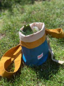 Foraging bag - perfect for wild garlic, elderflower, mushrooms and more. Available in the chalkandmoss.com shop.