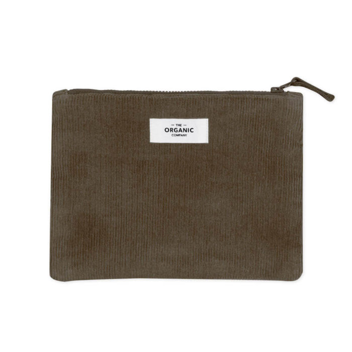 This large corduroy zipped purse, in organic cotton is for to keep chargers, keys, makeup or other small things safe. Comes in 3 earthy colours. 21 x 16cm. Also available in small zip around format.