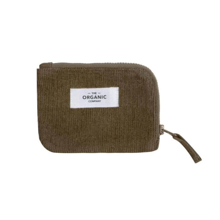 This corduroy zip around purse, in organic cotton, is for the eco minded organiser, holding your cards or money. 12 x 9cm. 3 earthy colours. The coin purse is also available in a larger size for chargers and more.