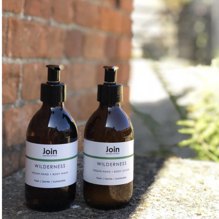 Vegan hand + body wash OR lotion with antibacterial properties. 250ml in a plastic free amber glass bottle. Wilderness contains invigorating essential oils for body and mind. You can buy either or both! Eco friendly.