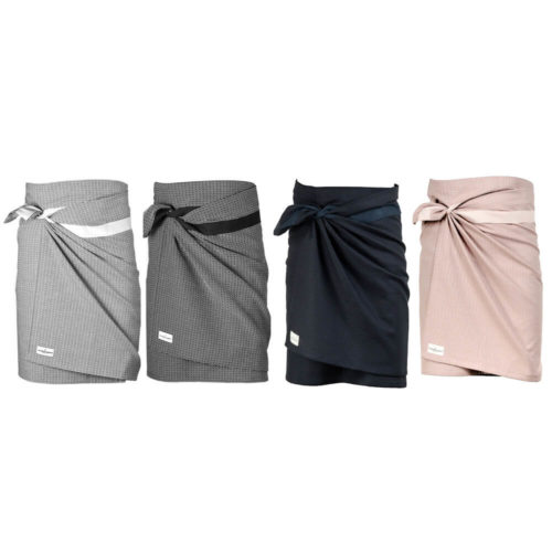 Wrap around towel, compact and quick drying as bath towels or beach towels. It's extra long to comfortably wrap around you, using the integrated strap. Available in several minimalist colours, like grey, blue and rose, so why not mix and match your perfect stack. 155 x 60 cm Made from 100% GOTS certified organic cotton Weaving: Piqué, grosgrain ribbon.