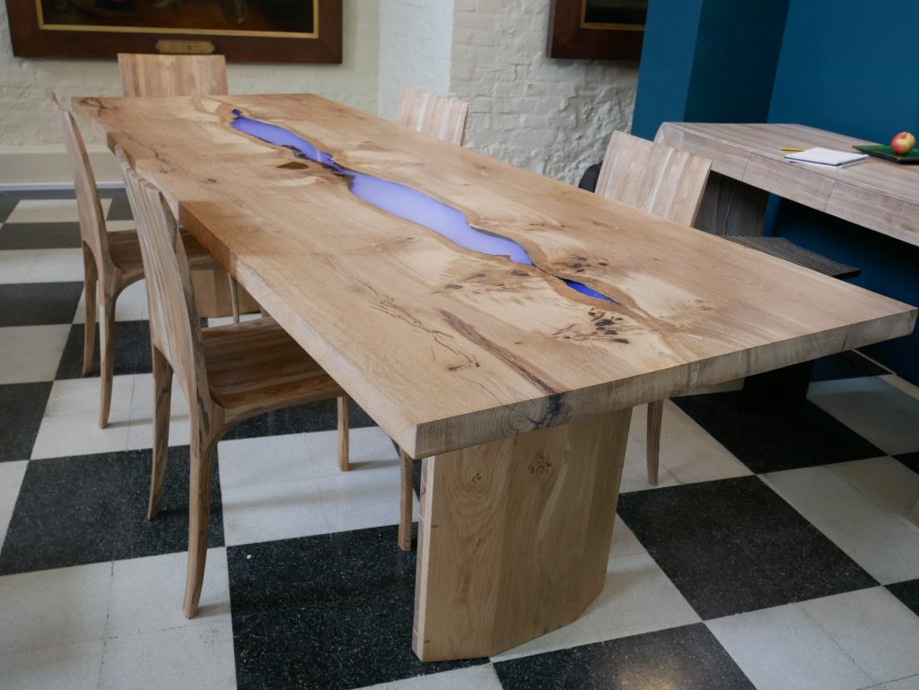 Clerkenwell Design Week 2017: Sustainable wood tables by Jonathan Field.