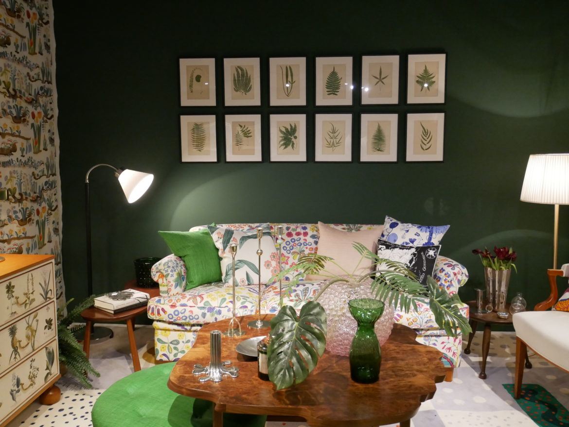 A typical set up for Josef Frank of Svenkt Tenn