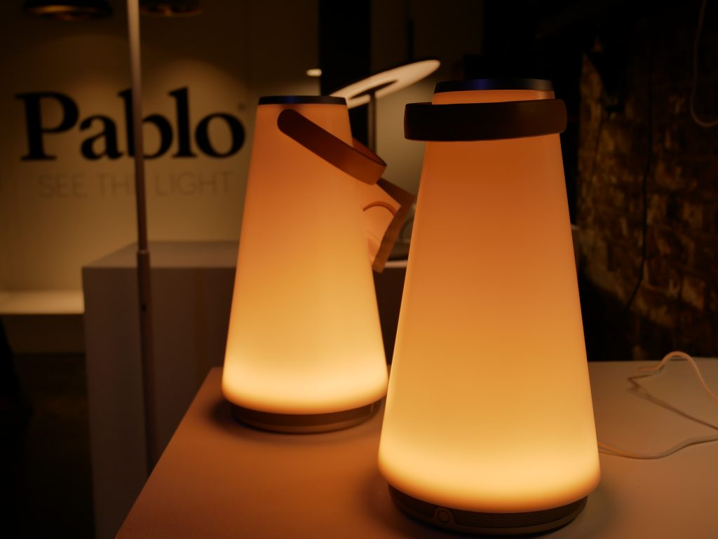 Light and speaker by Pablo