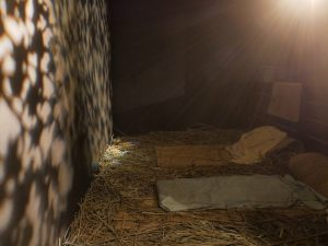 Hay beds with a sound and light show