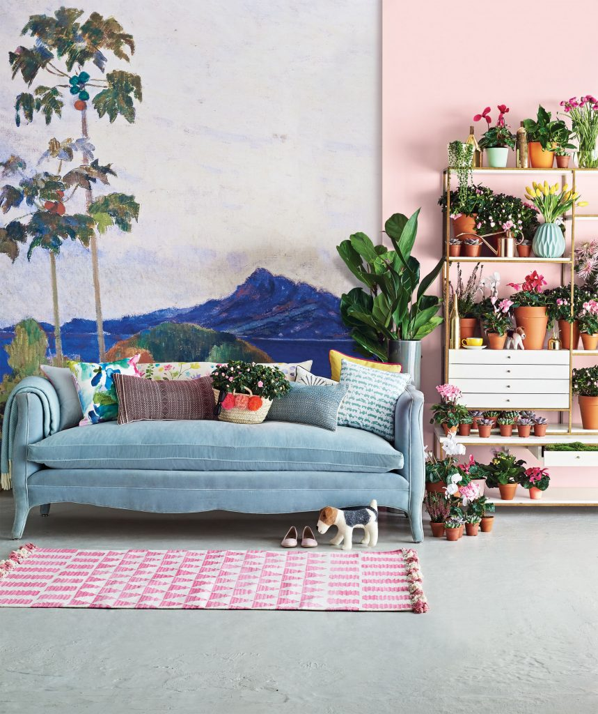House & Garden Festival has a strong leaning towards incorporating greenery and plants into overall design aesthetic. I love how they've incorporated the colour of the year, the denim drift blue, coupled with soft pink.