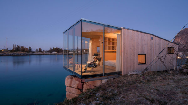 Norwegian cabin that surrounds you wilderness.