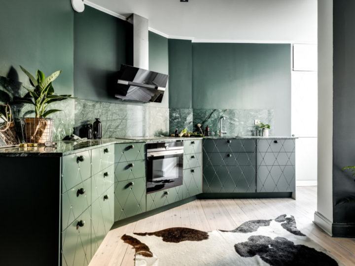 Green Kitchen – A Unique Stockholm Apartment