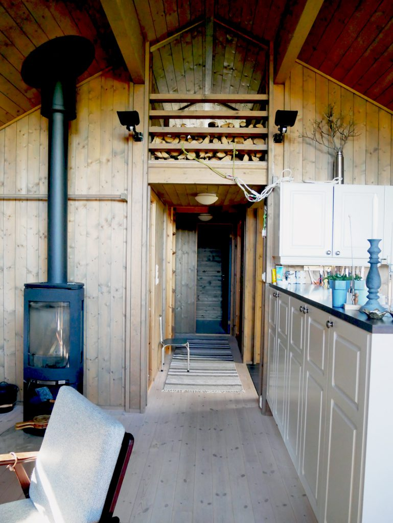 Every part of this Norwegian log cabin is put to good use to make inhabitants comfortable.