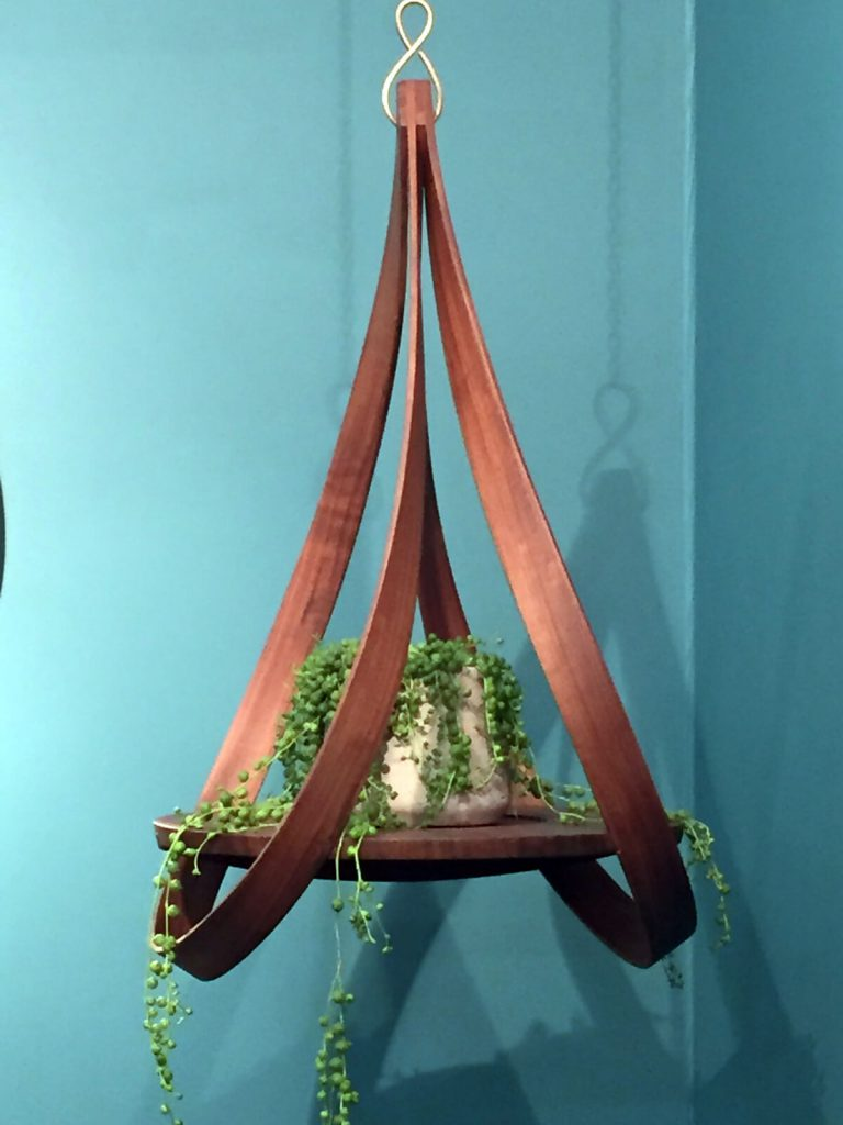 London Design Festival - Tom Trimmins plant shelf, to facilitate a biophilic designed interior.