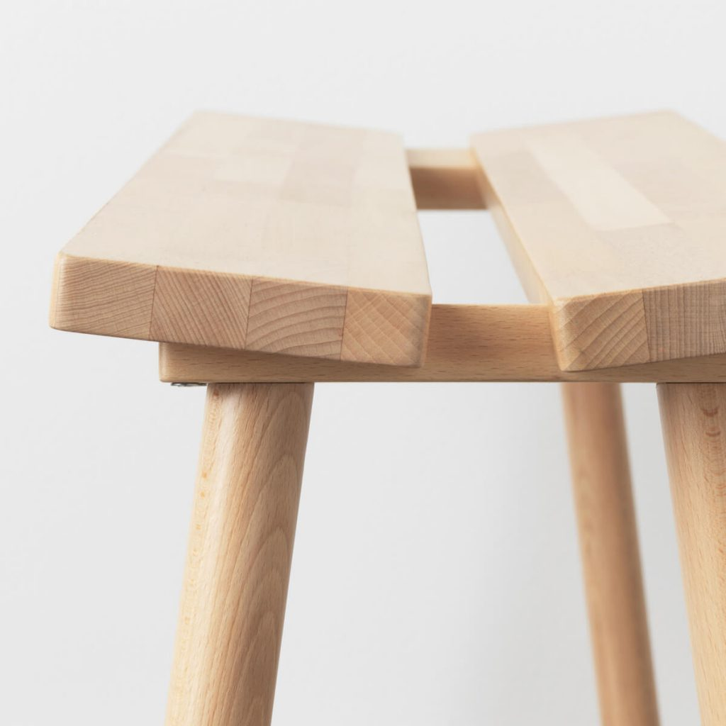 IKEA Hay collection YPPERLIG stool in solid beech