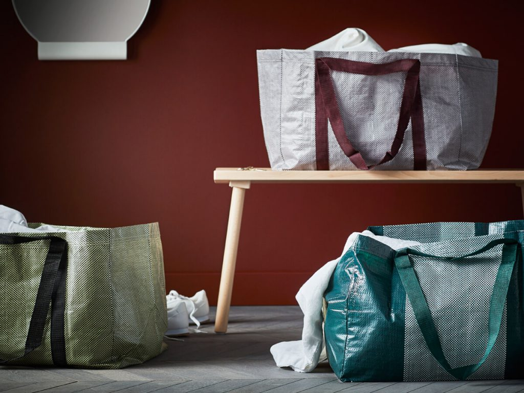 The IKEA carrier bag, revisited by Hay for the IKEA Hay collection Ypperlig