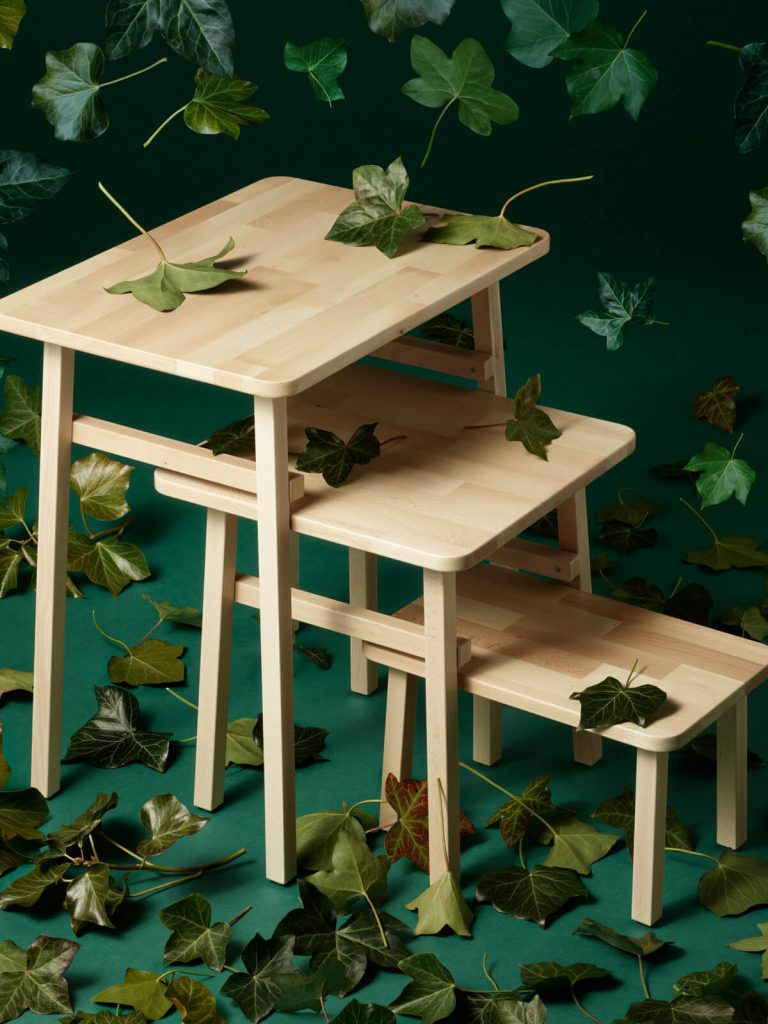 YPPERLIG nest of tables by Hay for IKEA 2017. IKEA Hay collection.