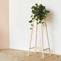 Tall plant stand - MIMA from the MIMA collection of wooden furniture. Handmade in the UK by John Eadon