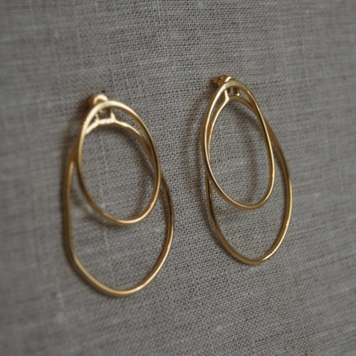 Large gold hoop earrings, Magma, from Lava collection