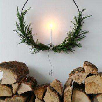 Large wreath for a Swedish Christmas: Magical oversized candle Christmas wreath