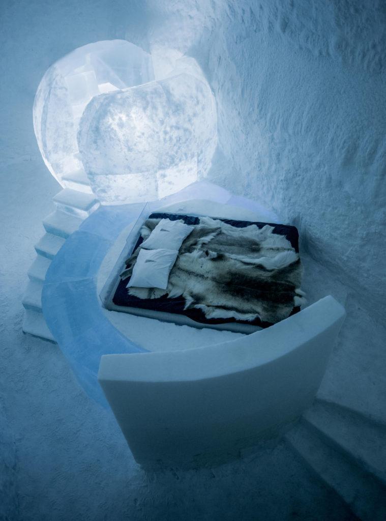 ICEHOTEL luxury bedroom Kiruna Sweden