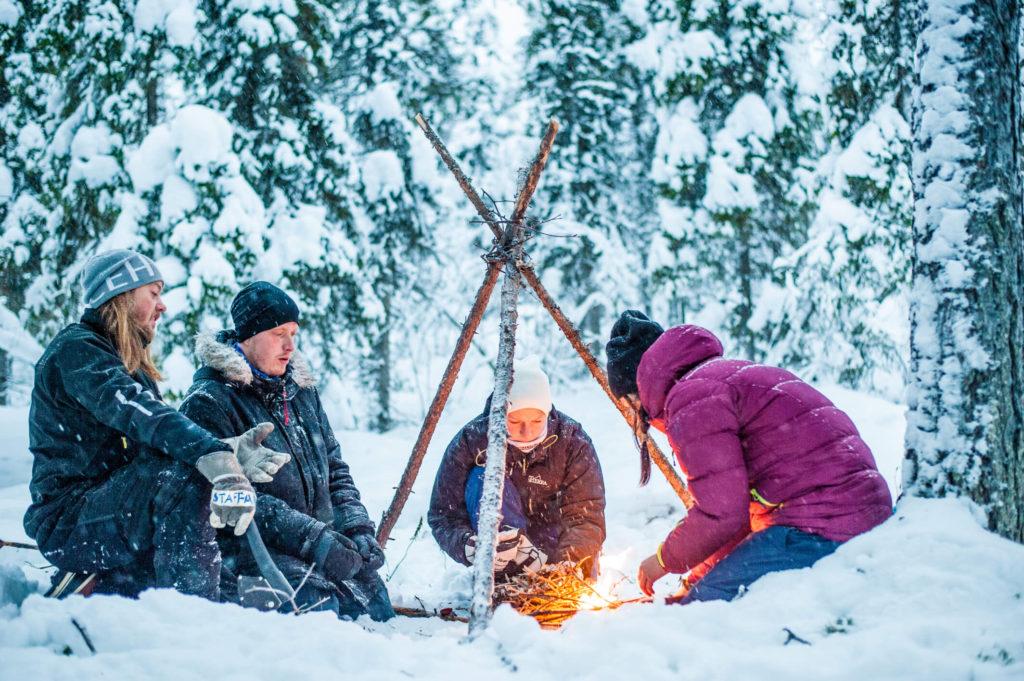 ICEHOTEL outdoor winter cooking Sweden