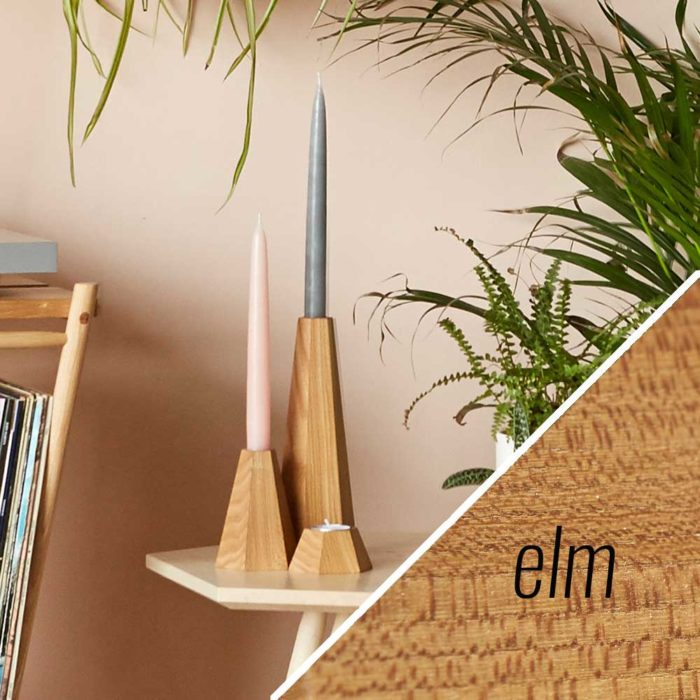 Elm wooden candle holders - John Eadon on Chalk & Moss