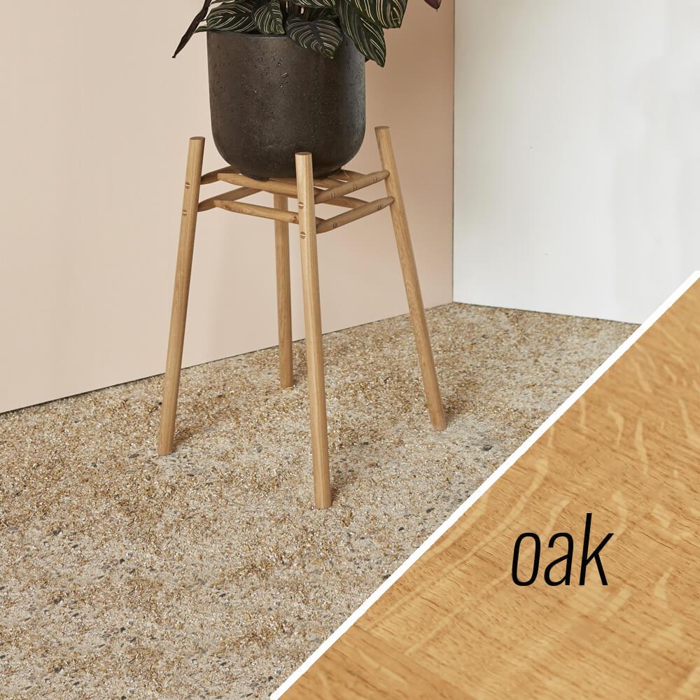 MIMA Plant Stand - Low - oak - by John Eadon on chalkandmoss.com