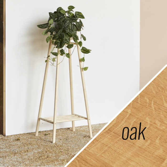 MIMA tall plant stand - oak - John Eadon on Chalk & Moss