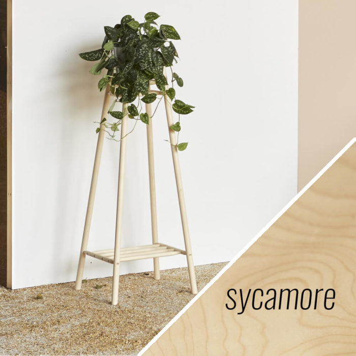 MIMA tall plant stand - sycamore - John Eadon on Chalk & Moss