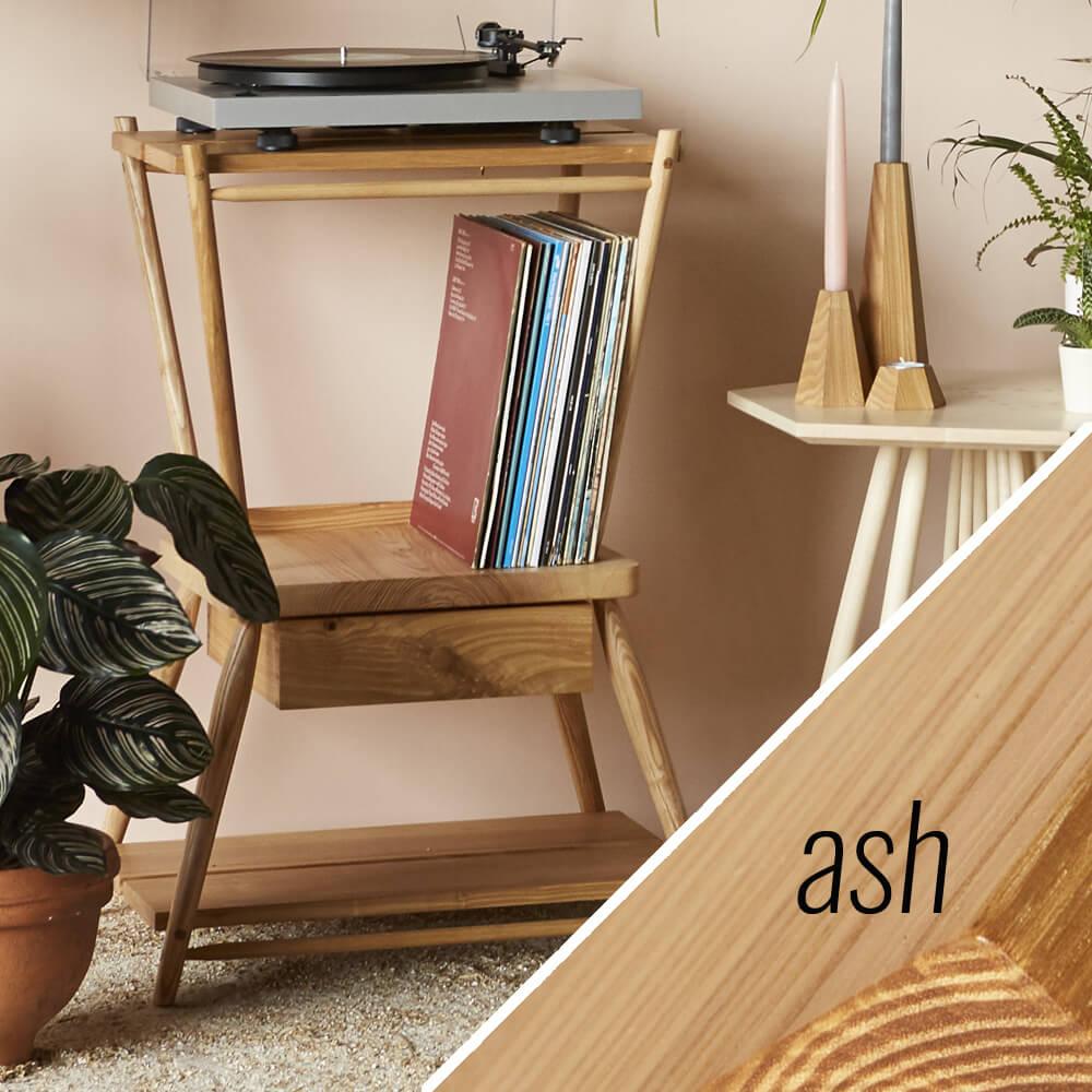 turntable stand MIMA - ash - John Eadon