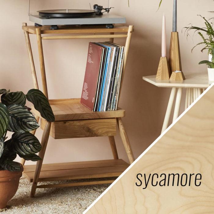 turntable stand MIMA - sycamore - John Eadon