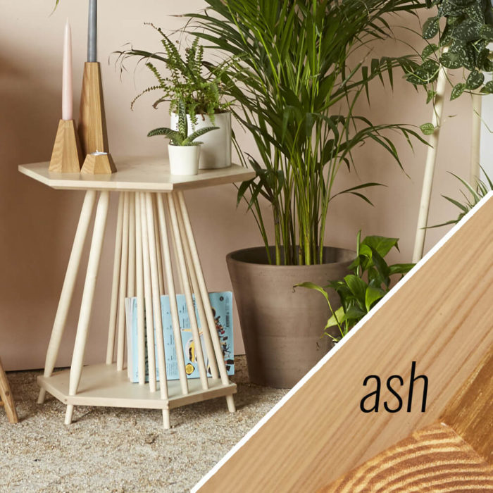 MIMA magazine rack side table - Ash