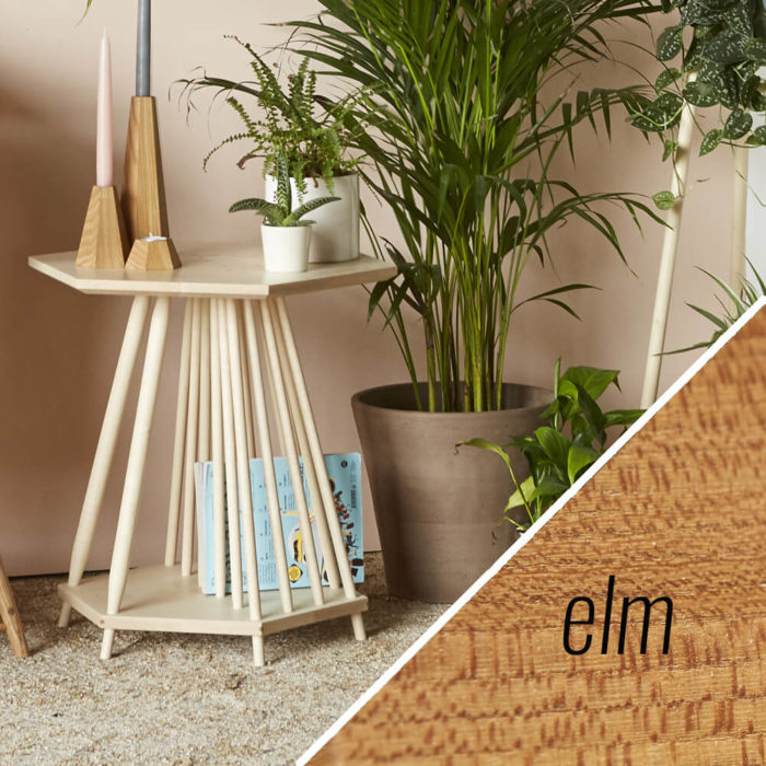 MIMA magazine rack side table - Elm