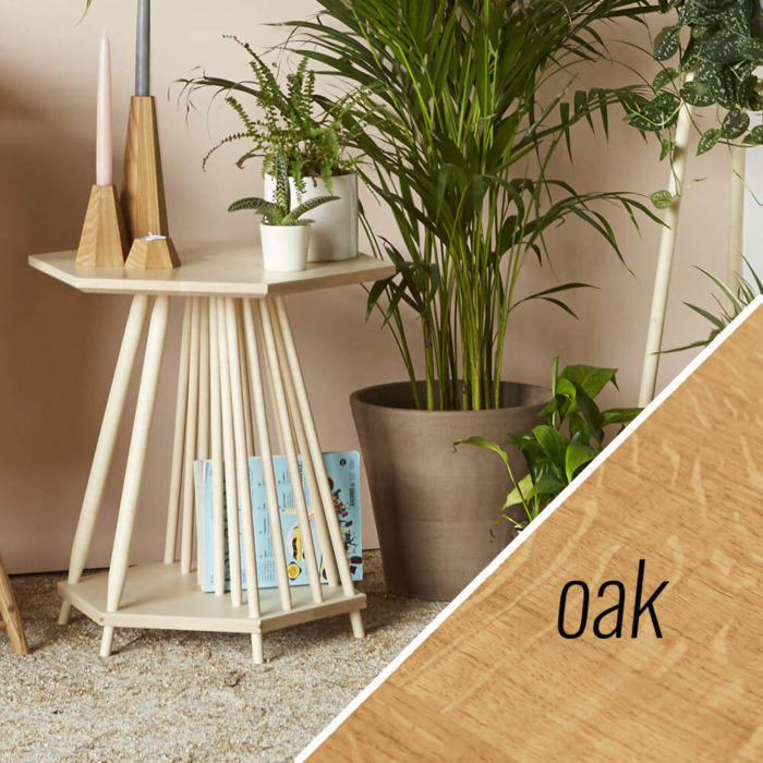 MIMA magazine rack side table - Oak
