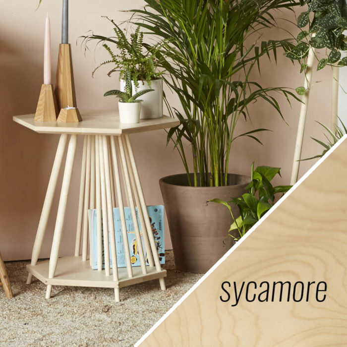 MIMA magazine rack side table - Sycamore