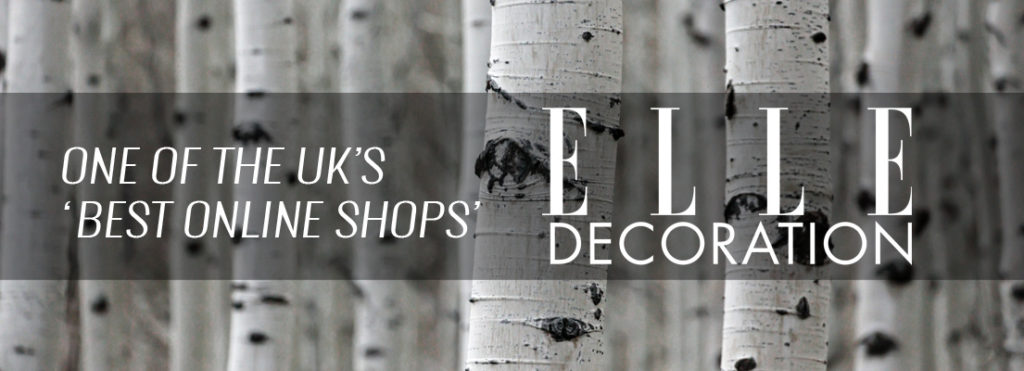"""Chalk & Moss featured in Elle Decoration (May 2018 issue, released April): """"One of the UK's best online shops"""""""