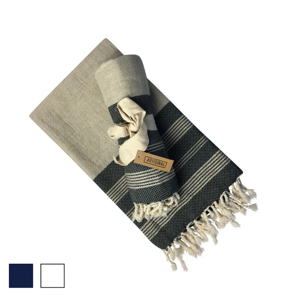 Ali Turkish hammam towel and scarf in a luxurious linen and cotton blend. Ali satisfies quality over quantity, and a love of light living.