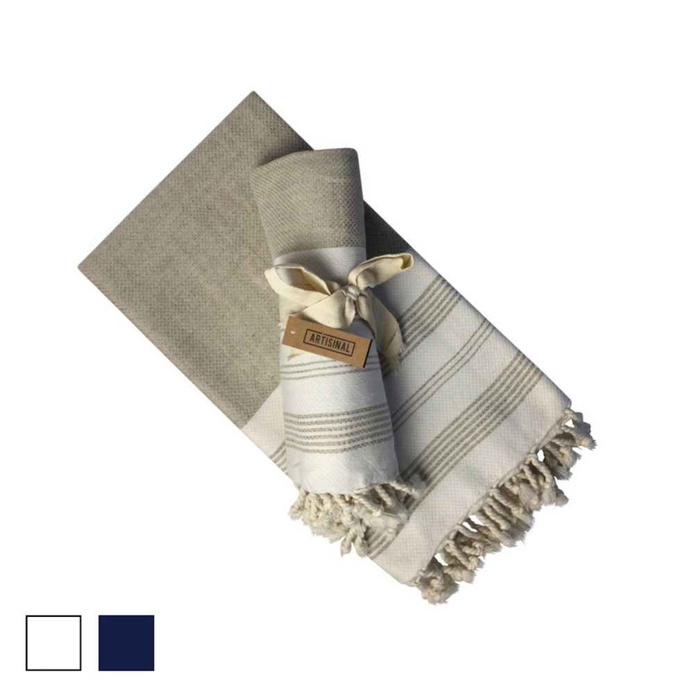 Ali Turkish hammam towel and scarf in a comforting, light linen and cotton blend. Dream of log cabins and rural country living, and the Ali is ideal for those who like quality over quantity.