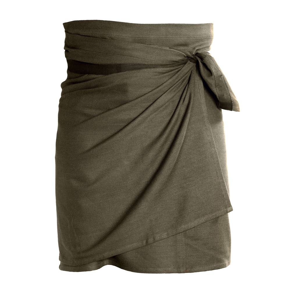 Giant kitchen towel apron - in Clay. By the Organic Company in Denmark, sold on Chalk & Moss.
