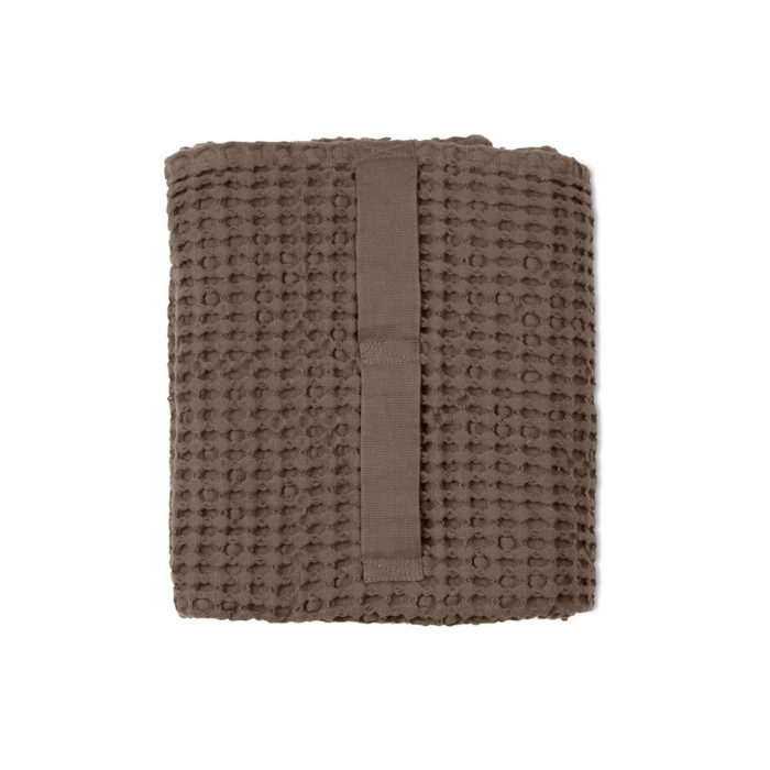 Waffle towels designed by The Organic Company. This soft and absorbent medium sized towel is available in a range of soft colours with a Scandinavian feel, including clay.