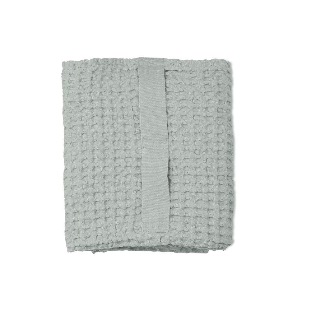 Waffle towels designed by The Organic Company. This soft and absorbent medium sized towel is available in a range of soft colours with a Scandinavian feel, including this sky blue.