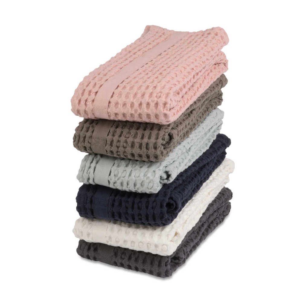 Big waffle hand towel available in 6 earthy colours. By Denmark's The Organic Company. 100% GOTS certified organic cotton, ethically made in India. Sold on nature connected design shop Chalk & Moss (chalkandmoss.com)