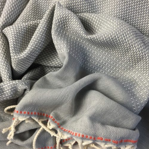 Ekin cotton Turkish hammam towels - peshtemal towel in grey