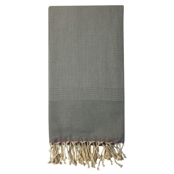 Ekin cotton peshtemal towel in grey