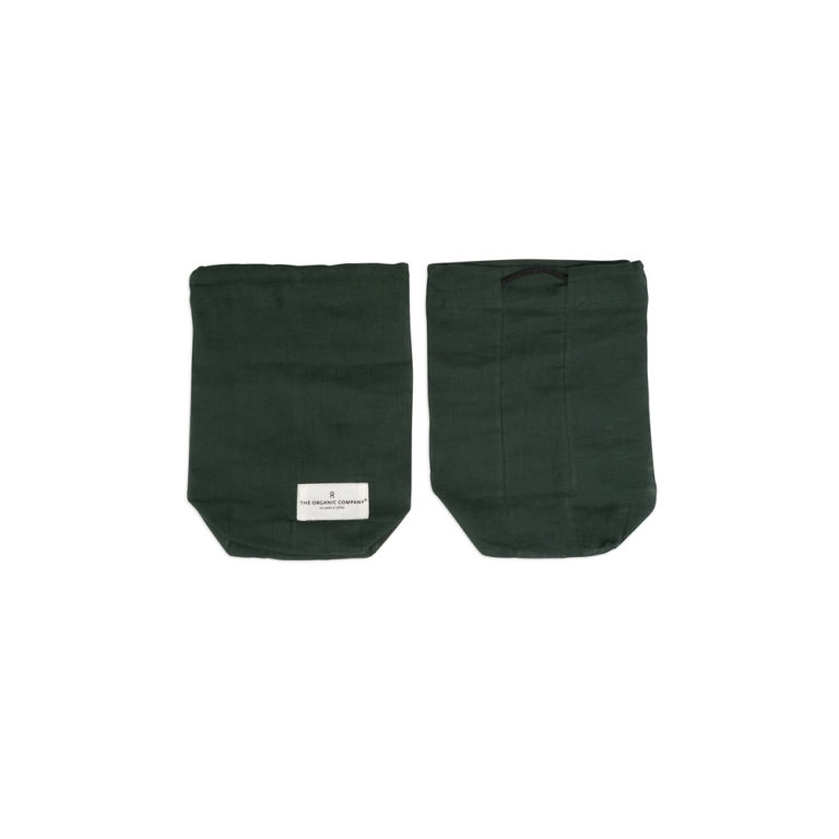 Food storage bag by Organic Company on Chalk & Moss. Shown here in green, size small.