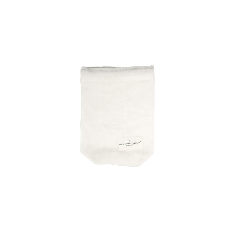 Food storage bag by Organic Company on Chalk & Moss. Shown here in white, size small.