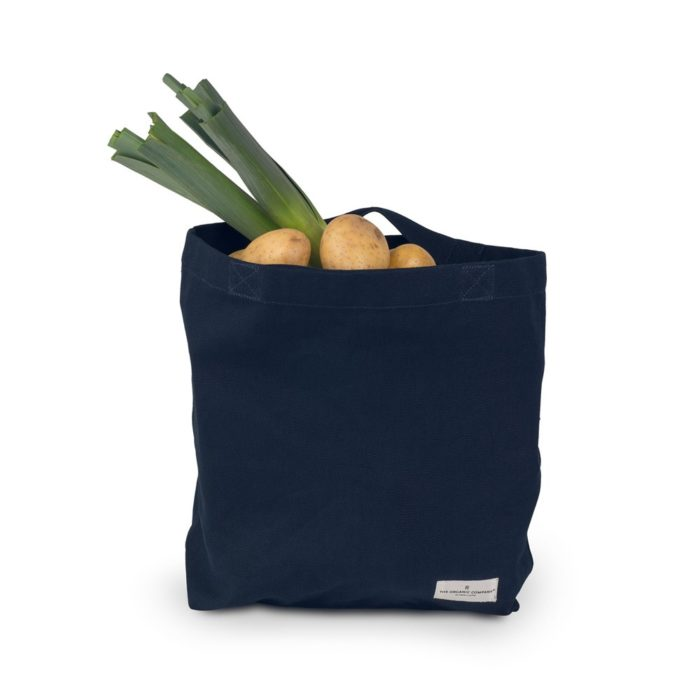 "Canvas shopper bag, ""My Organic Bag""- available in 3 colours: dark grey, black & pale rose. Designed in Denmark by The Organic Company, ethically made in India."