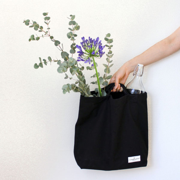 "Canvas shopper bag, ""My Organic Bag""- available in 3 colours (shown here in Black)"